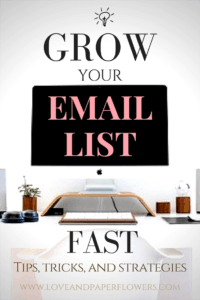 Learn how you can grow your email list fast using these tips, tricks, and strategies. These tips and strategies were instrumental in helping grow my email list fast, going from 20 subscribers to nearly 800 in 3.5 months.