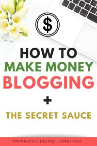 """Here is the full scoop on how to make money blogging. In this """"How to Make Money Blogging for Beginners Guide"""" you will find everything you need to know to start making money from home in no time. #makenoneyblogging #makemoney #passiveincome #makemoneyfromhome #startablog #sidehusle"""