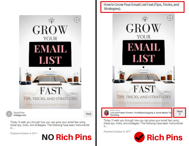 how to make pinterest pins for blog post