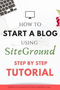 """Starting a blog can feel overwhelming. But with this """"Start a Blog Tutorial"""" I will walk you step-by-step how to start a blog using SiteGround, Install WordPress, and select the best theme for your new blog. #startablog #blogging #bloggingtutorial #howtoblog #startablodguide #startablogtutorial #bloggingforbeginners"""
