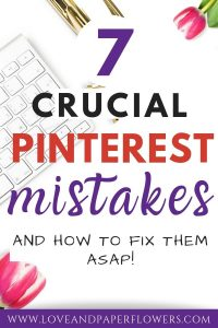 Common Pinterest marketing mistakes bloggers make and how to fix them