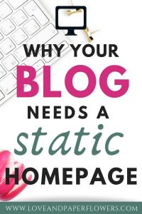 Why your blog should have a static home page.