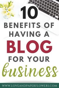 benefits of having a blog for business