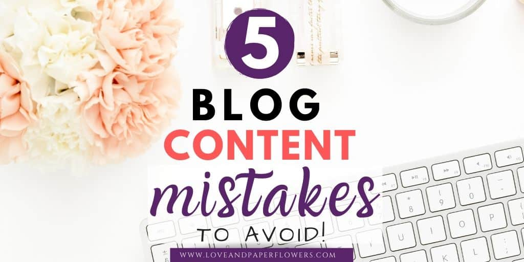 5 Crucial Blog Content Mistakes That Will Kill Your Content's Engagement
