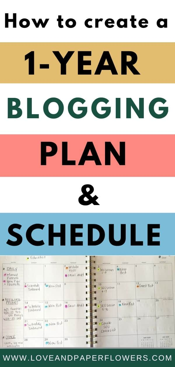 Blog plan and scheduling tutorial