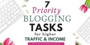 priority blogging tasks to include in your blogging schedule